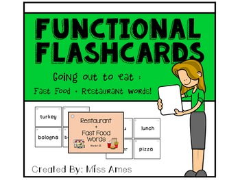 Functional Flashcards - Fast Food and Restaurant Words