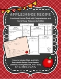 Functional Format Text Applesauce Recipe and Activities