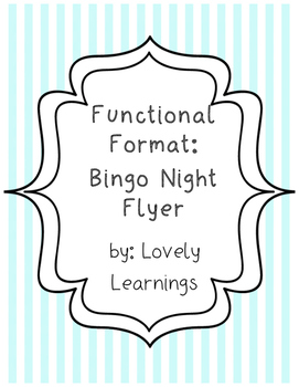 Functional Format Flyer Project
