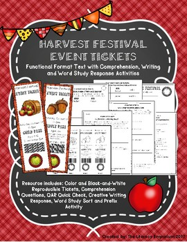 Functional Format Text Harvest Festival Tickets and Activities