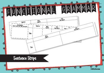 Functional Grammar Sentence Strips