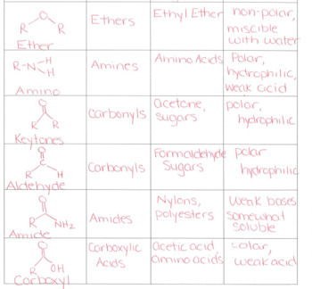 Functional Groups PowerPoint and Practice Worksheet