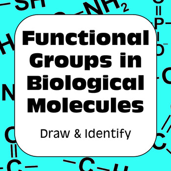 Functional Groups in Biological Molecules Biochemistry For High School Biology