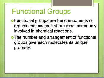 Functional Groups in Organic Chemistry