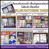 Functional Independent Work Tasks: Color Matching File Folders & Task Cards