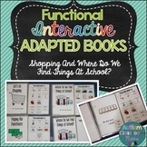 Functional Interactive Adapted Books: Shopping & School (Special Education)