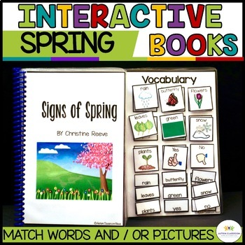 Functional Interactive Adapted Books*Spring*Autism*Special Education