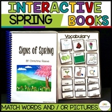 Spring Interactive Adapted Books for Autism & Special Educ