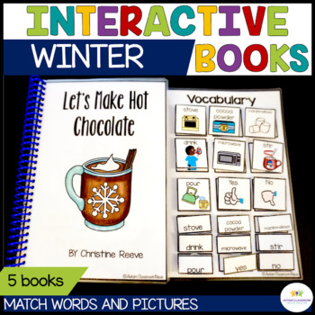 Functional Interactive Adapted Books*Winter*Autism*Special Education