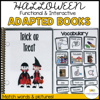Functional Interactive Adapted Books for Halloween*Autism*Special Education