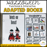 Halloween Activities Special Education | Functional Interactive Adapted Books