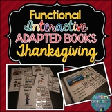 Functional Interactive Adapted Books for Thanksgiving*Auti