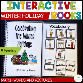 Functional Interactive Adapted Books*Winter Holidays*Autism*Special Education
