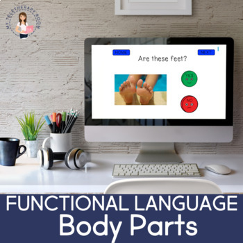 Functional Language: Body Parts (Boom cards) (No Print)