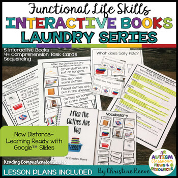 Reading Comprehension Functional Life Skills Unit: Laundry - Interactive Books