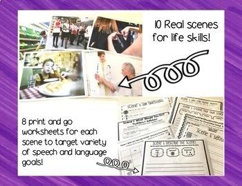 Functional Life Skills Scenes and Activities
