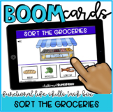 Functional Life Skills: Sort The Groceries BOOM CARDS {distance learning}