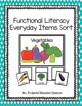 Functional Literacy Everyday Items Sort