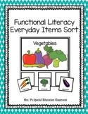 Functional Literacy Everyday Items Sort #SPEDSPRINGSAHEAD