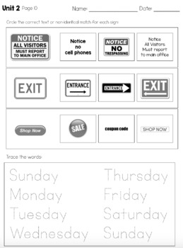 Functional Literacy Leveled Daily Curriculum {BUNDLE}