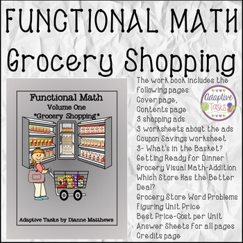 Functional Math- Volume 1- Grocery Shopping