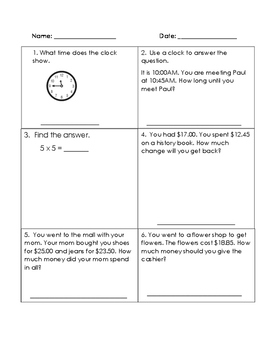 Functional Math Work