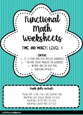 Functional Math Worksheets: Level 1