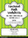 Functional Math Worksheets: Level 2