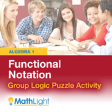 Functional Notation Logic Puzzle Group Activity | Good for