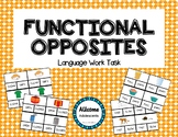 Functional Opposites Clip Cards- autism/sped/elementary/mi