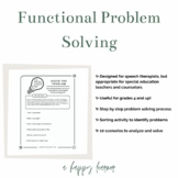 Speech Therapy Social Skills for Older Students - Functional Problem Solving