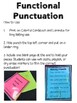 Functional Punctuation Practice for Early Ed and Special Education