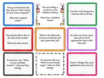 Functional Questions Task Cards