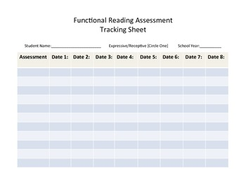 Functional Reading Assessments for Kids with Autism