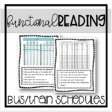 Functional Reading: Bus and Train Schedules