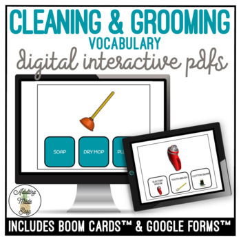 Functional Reading Cleaning & Grooming Supplies Digital Activity