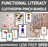104 Functional Reading Clothespin Pinch Task Card Bundle