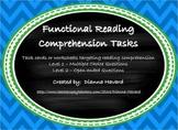 Functional Reading Comprehension Tasks