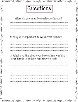 Functional Reading Comprehension: Washing My Hands