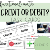 Credit or Debit Task Cards - Functional Reading, Functional Math