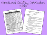 Functional Reading Curriculum Resource for ABA, Autism, Special Education