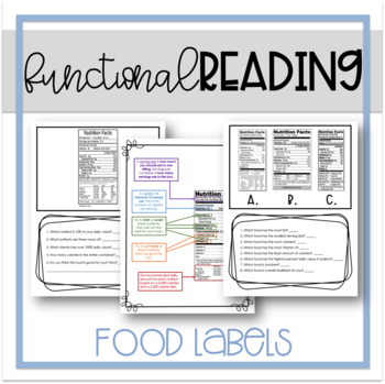 Food Label Worksheets Teaching Resources Teachers Pay Teachers