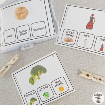 Grocery Store Food Functional Reading Task Cards Special Education