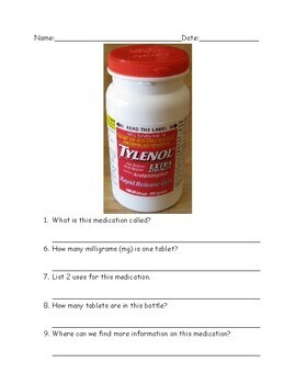 Functional Reading: Medication