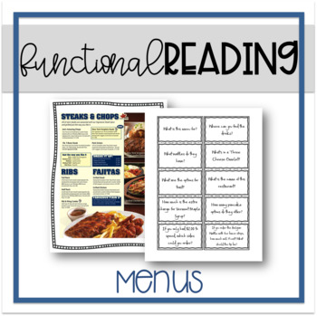 Functional Reading: Menus