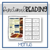 Functional Reading: Menus