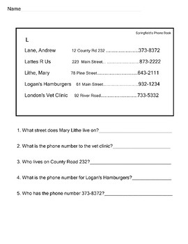 Functional Reading Practice 6 Worksheets