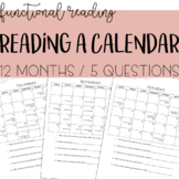 Reading a Calendar - Functional Reading, Life Skills