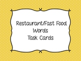 Functional Reading - Restaurant and Fast Food Task Cards