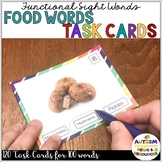 Functional Reading Task Cards: Food Words {Special Ed; Autism}